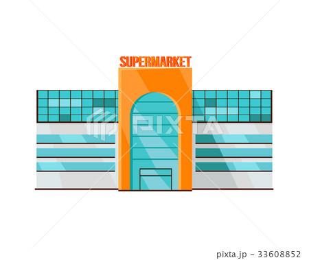 Shopping Mall Web Template in Flat Design.のイラスト素材 [33608852] - PIXTA