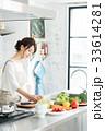 キッチン 主婦 女性の写真 33614281
