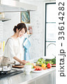 キッチン 主婦 女性の写真 33614282