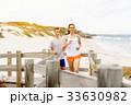 ビーチ 浜辺 カップルの写真 33630982