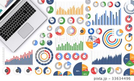 ノートパソコンとビジネス資料 33634496