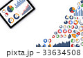 グラフ データ ビジネスのイラスト 33634508
