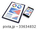 クリップボード ビジネス グラフのイラスト 33634832