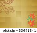 秋 背景 紅葉のイラスト 33641841