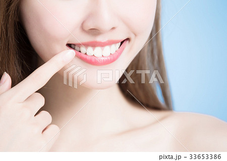beauty woman smile happily 33653386