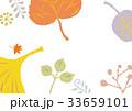葉 植物 背景のイラスト 33659101