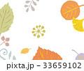 葉 植物 背景のイラスト 33659102