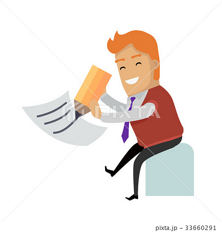 writing a letter vector concept in flat designのイラスト素材