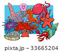 sea life group cartoon animal characters 33665204