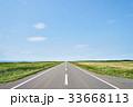 オロロンライン 道路 青空の写真 33668113