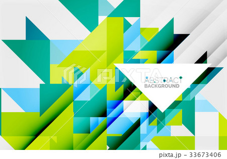 Triangle pattern design backgroundのイラスト素材 [33673406] - PIXTA