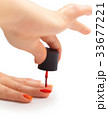 nail painting with red lacquer 33677221
