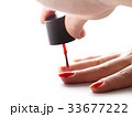 nail painting with red lacquer 33677222