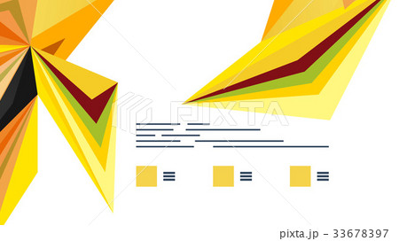 Modern triangle presentation templateのイラスト素材 [33678397] - PIXTA