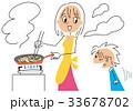 料理 親子 炒め物のイラスト 33678702
