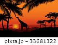 動物 背景 景色のイラスト 33681322
