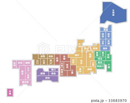 日本地図 33683970