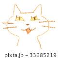 猫 動物 顔のイラスト 33685219