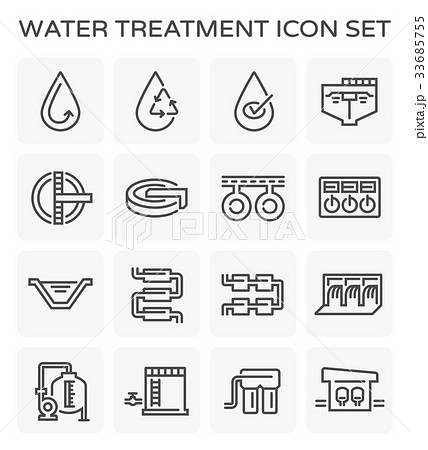 water treatment icon 33685755
