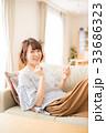 女性 くつろぐ ポートレートの写真 33686323