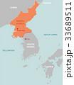 北朝鮮と周辺国地図 (英語) 33689511