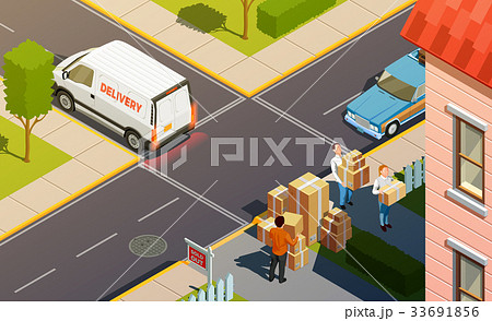 Courier Service Delivery Composition 33691856