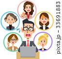 ハラスメント ビジネスマン オフィスレディのイラスト 33691883