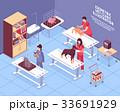 獣医 ペット 愛玩動物のイラスト 33691929