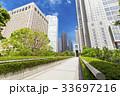 オフィス街の高層ビルと緑 33697216