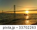 明石海峡大橋 日の出 33702263