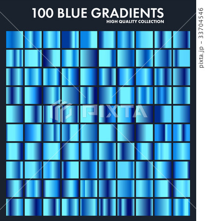 blue chrome gradient set pattern template waterのイラスト素材