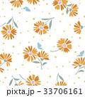 マーガレット 花 花柄のイラスト 33706161