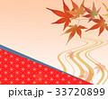 紅葉 和柄 秋のイラスト 33720899