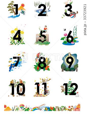 数字カレンダー 33723921