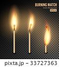 Realistic Burning Match Vector 33727363