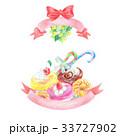 お菓子 リボン スイーツのイラスト 33727902