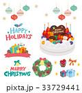 クリスマス イラスト セット 33729441
