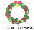 クリスマス ベクター リースのイラスト 33729630