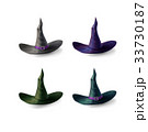 Witch hats set isolated on white background 33730187