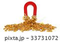 simple horseshoe magnet with golden dollar symbols 33731072