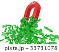 simple horseshoe magnet with green dollar symbols 33731078