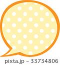吹き出し水玉 黄色 33734806