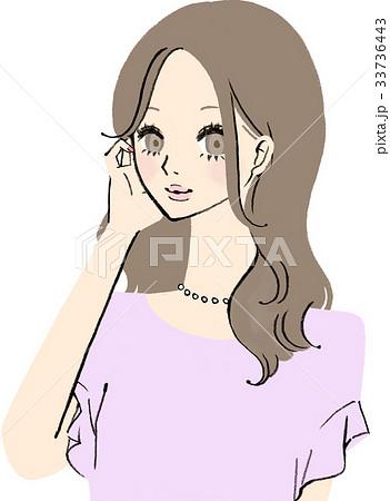 色気のあるオシャレ系女子のイラスト素材 33736443 Pixta