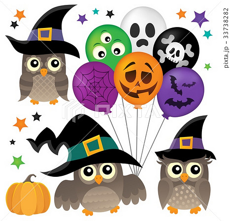 Halloween owls thematic collection 1 33738282