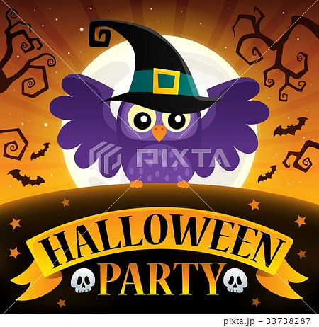 Halloween party sign composition image 3 33738287