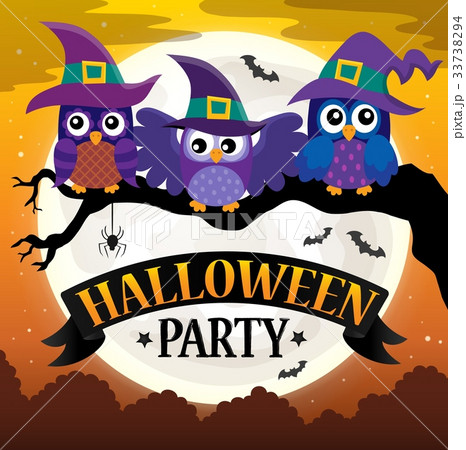 Halloween party sign theme image 7 33738294