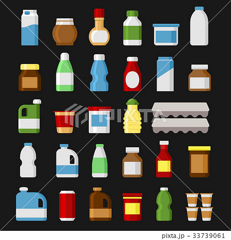 Product Items Set. Food and Drinks Icons. Vector 33739061