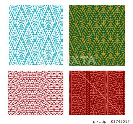 Seamless Thai tribal pattern in vectorのイラスト素材 [33745017] - PIXTA