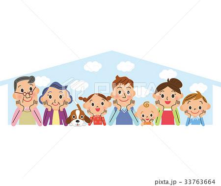 幸せ三世代家族とマイホーム 33763664