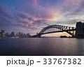 Sydney CBD and Harbour Bridge at sunset 33767382